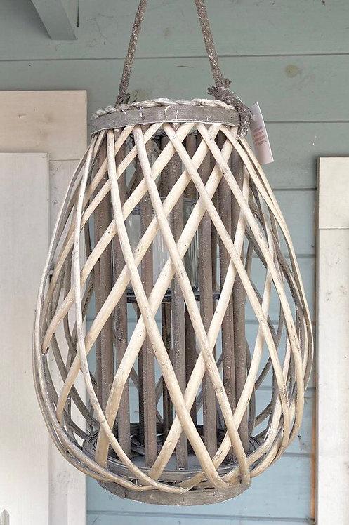 Willow Lantern with Rope Handle (Medium)
