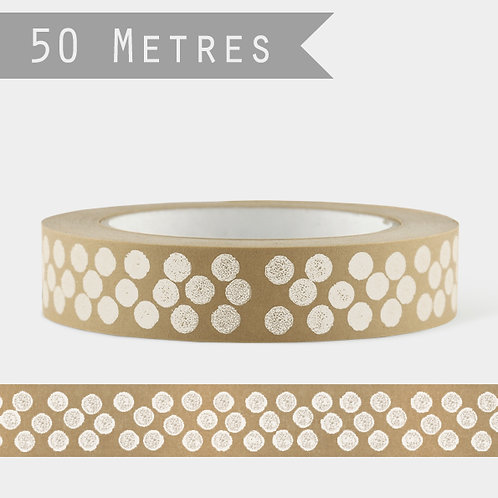 Wide Paper Tape - White Dots
