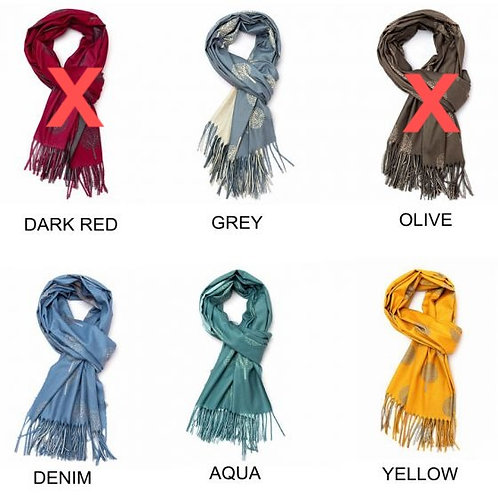 Tree of Life Printed Soft Warm Scarf (4 colours available)