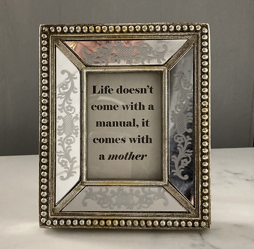 Mothers day wording in Silver Mirrored Photo Frame
