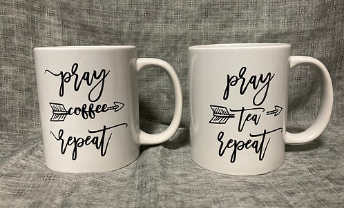 Pray coffee / tea Repeat mug