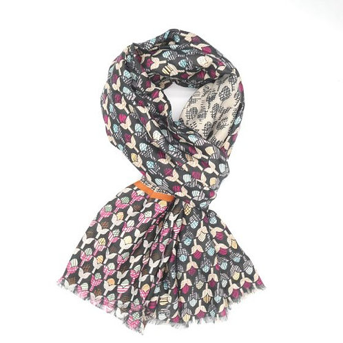 Tulip print Light scarf ( 2 colours available)