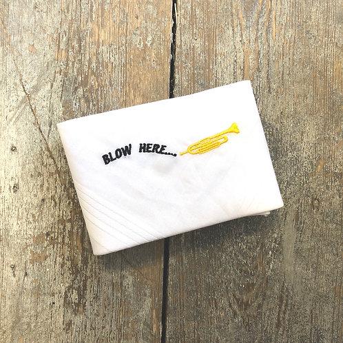 'Blow Here' Brass Instrument Handkerchief