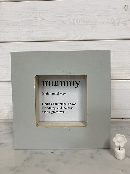 Mothers day definition in Box picture/photo frame, love