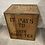 Thumbnail: Vintage Tea Chest Trunk Box Crate 60x50x40cm