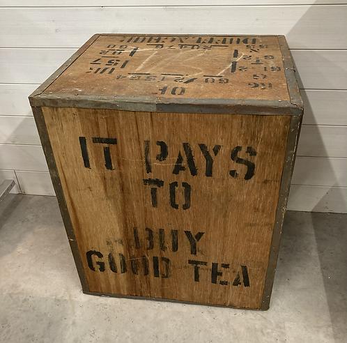Vintage Tea Chest Trunk Box Crate 60x50x40cm