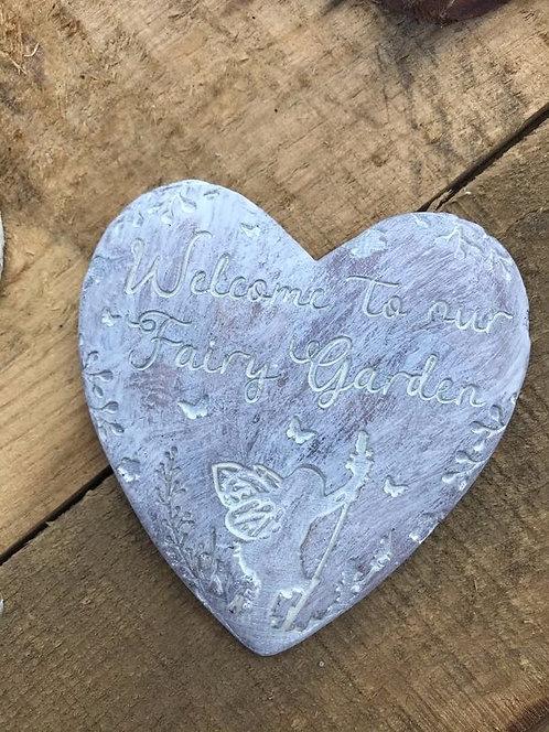 Love Heart Fairy Plaques