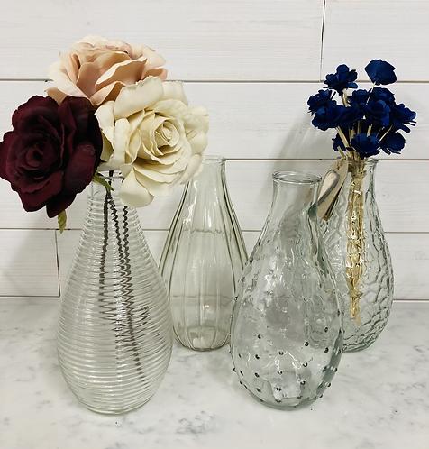 Glass bottle vase 24cm