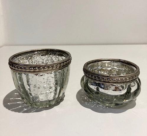 Tea light candle Pot Silver