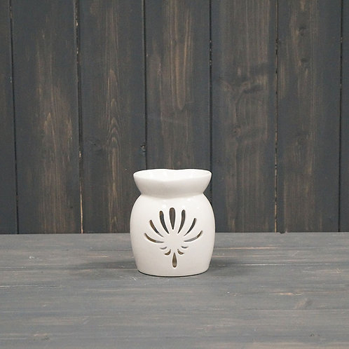 Ceramic Wax/Oil Burner with heart shaped top
