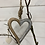 Thumbnail: Hanging Heart Pretzel 11x9.5cm Wood and silver