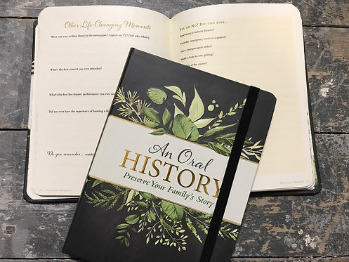 An oral History of your Family's Story, 21x16cm notebook