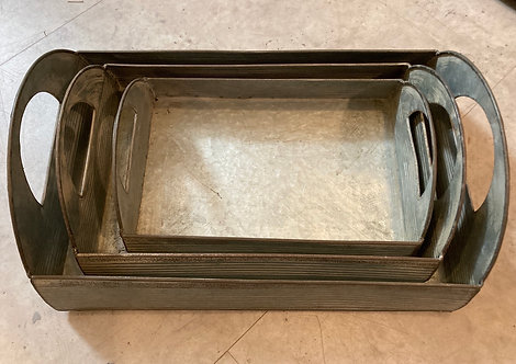 Tin trays, 3 sizes from £10.99