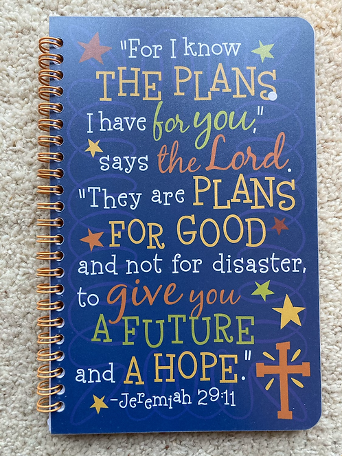 Spiral bound notebook journal - I know the plans