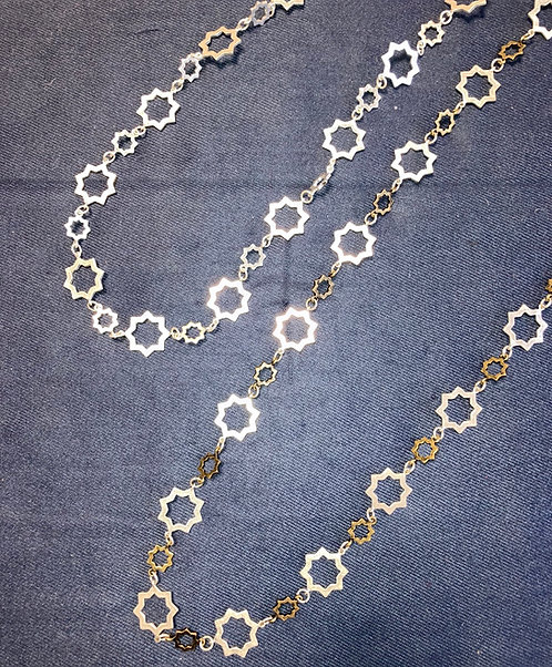Costume jewellery - long star necklaces