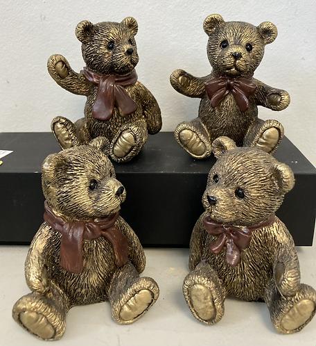 Teddy bears 5x5x8cm, choice of 4