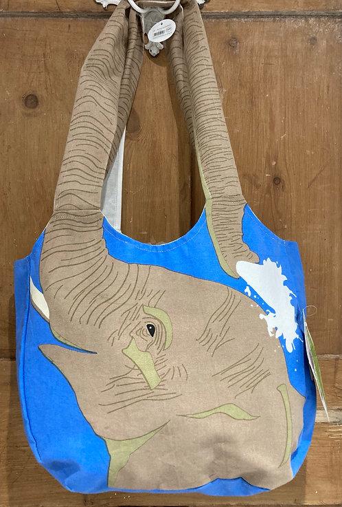 Fair Trade Tote Bag Elephant or Giraffe Fair Trade Endangered species