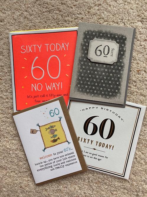 60 Bithday cards (price vary)