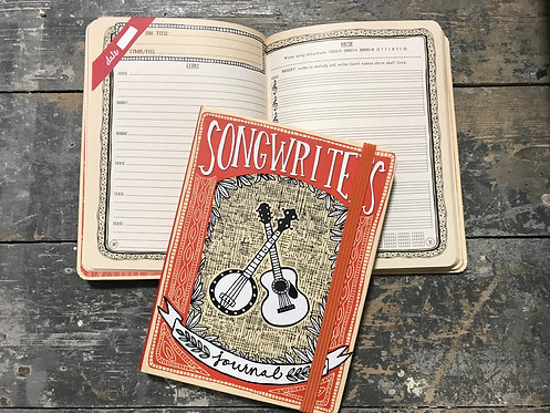 Songwriter's Journal notebook and music staves 21x16cm