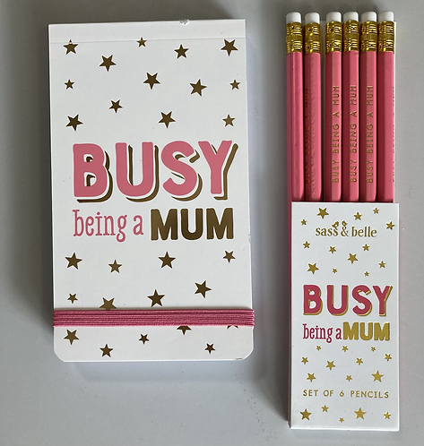 Busy being mum notebook & pencils sold separately
