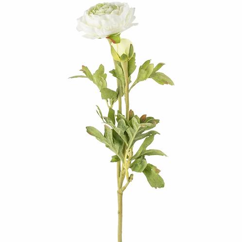 Ranunculus - White faux flower