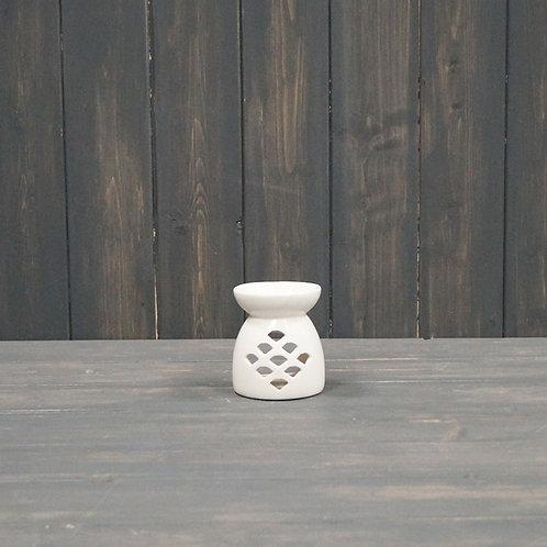 Small White Wax/Oil Burner