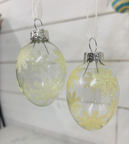 Glass hanging egg decorations 5cm, buy 5 get 6th free