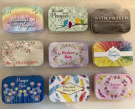 Prayer tin 9.5x6cm