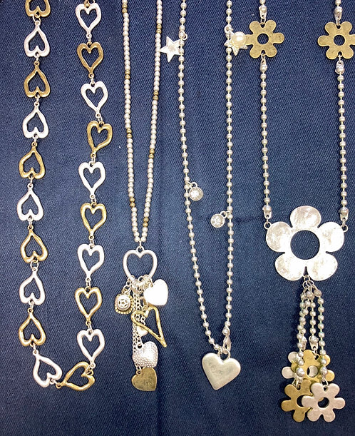 Costume jewellery - long necklaces