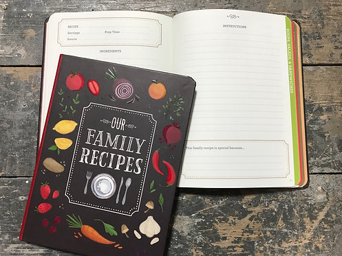 Our Family Recipes note Book, 21x16cm