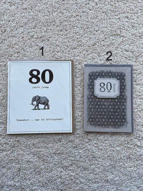 80 Birthday card (price vary)