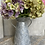 Thumbnail: Diamond Metal Vase with handles 25cm