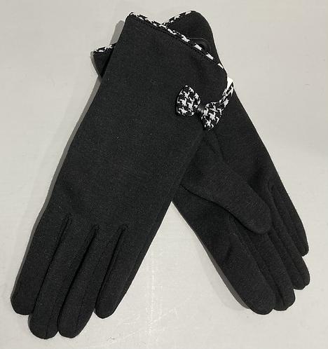 Black jersey gloves