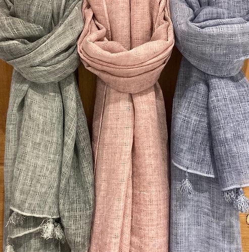 Textured tassel scarf by Biggie Best