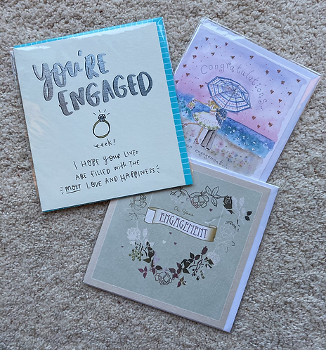 Engagement cards (prices vary)