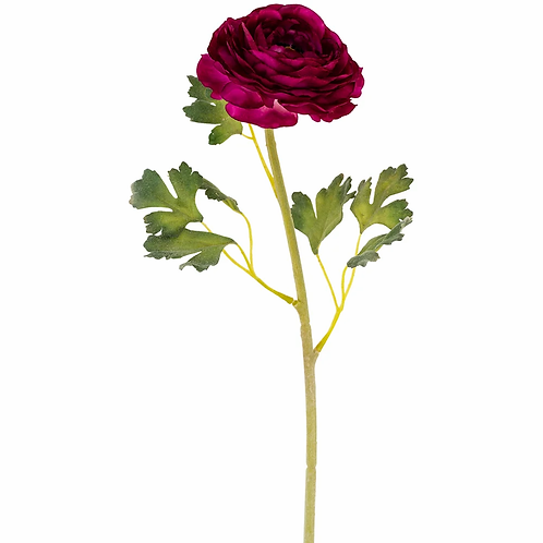 Ranunculus - Large dark pink faux flower