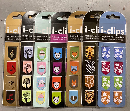 i-clips Magnetic Page Markers Bookmarks
