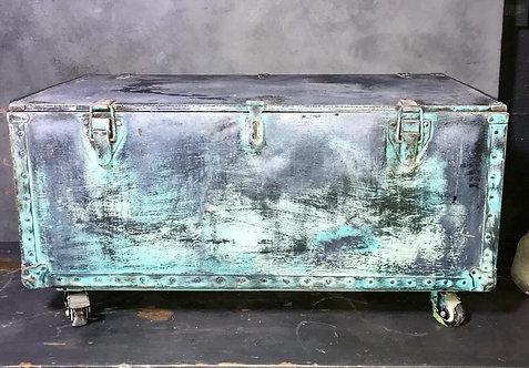 Unique Vintage chest on industrial wheels