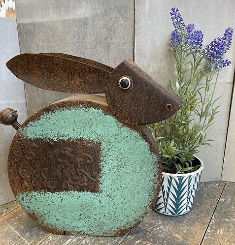 Quirky Decorative Garden Hare (Tin rabbit) 36x36x11cm
