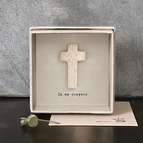 Boxed Cross Card