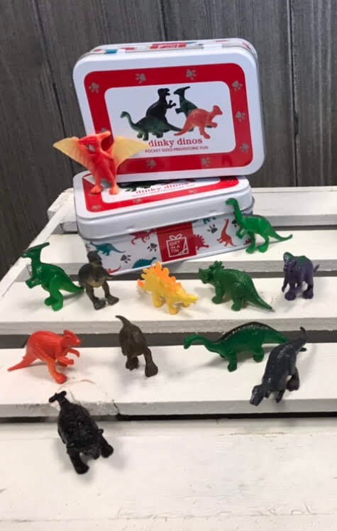 Dinky Dinos - pocket sized prehistoric fun in a tin