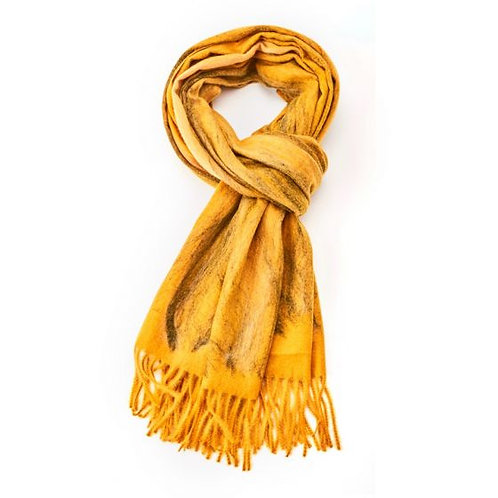 Luxury large warm scarf in Mustard, Blue or Red