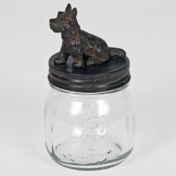 Scottie Dog Jar Screw Top