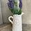 Thumbnail: White ceramic jug Fleur de Lis 18cm