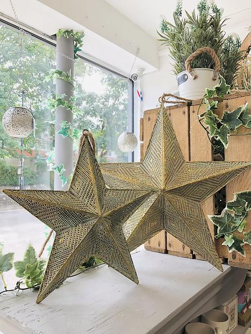 Gold Metal Hanging Star