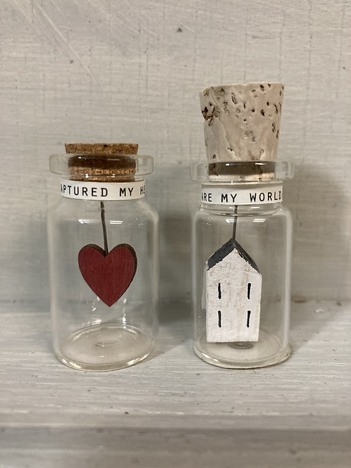 'Wood you be mine' glass bottle