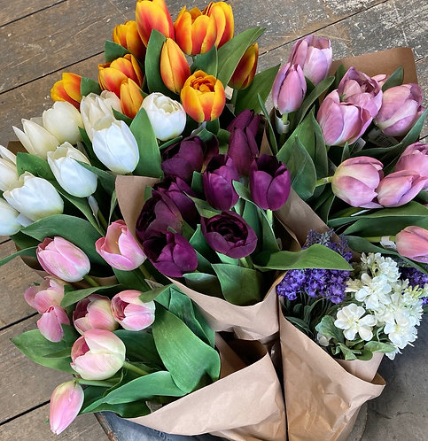 Tulips 36cm - so lovely you think they're real! Silk flowers