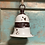 Thumbnail: Rustic Metal Bell 19x15.2cm white