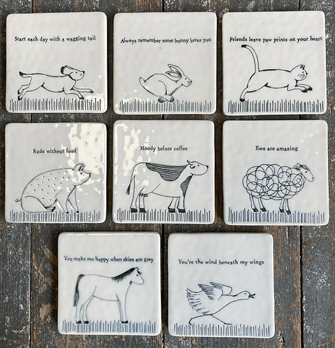 Porcelain Animal Coaster