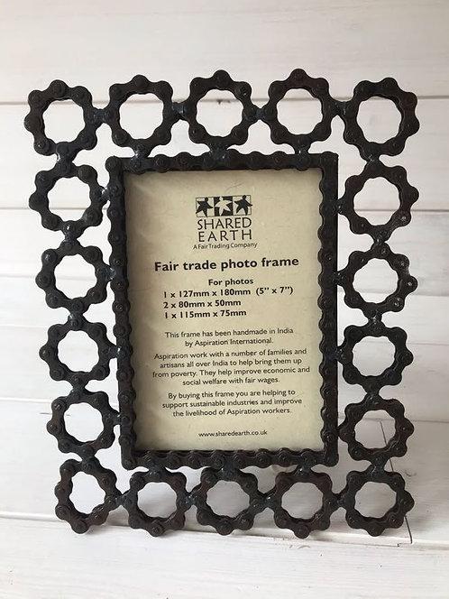 Bike Chain Photo Frame